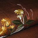 春の図刺繍帯 質感・風合
