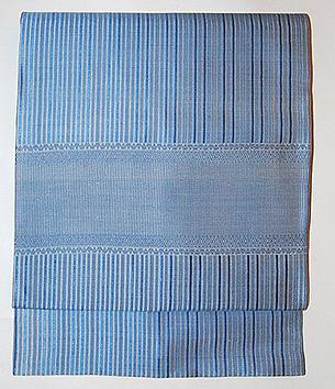 縞と紋織名古屋帯