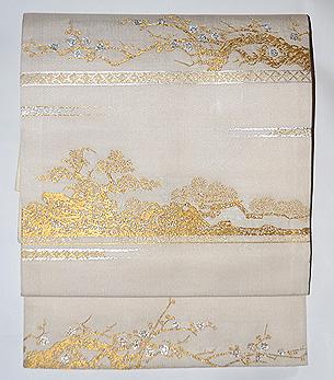 龍村平蔵製「蒔絵梅松錦」袋帯