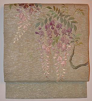 藤の刺繍名古屋帯