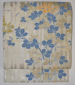 萩織り文様名古屋帯