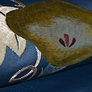 朝顔の刺繍名古屋帯 質感・風合