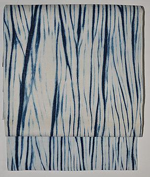 板締め絞り木綿名古屋帯
