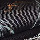 柳に蝙蝠の刺繍絽名古屋帯 質感・風合