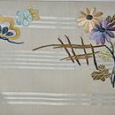 枝垂れ桜に橋立の図袋帯 前中心