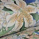 百合の花絽縮緬名古屋帯 質感・風合
