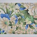 百合の花絽縮緬名古屋帯 前中心