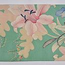 初夏の花々文様縦絽名古屋帯 前中心