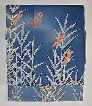 葦に蜻蛉名古屋帯