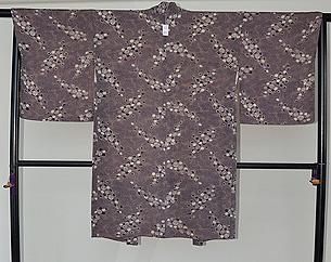 紫地小菊柄羽織
