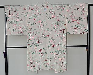 たんぽぽ春草模様羽織