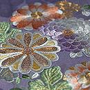 菊に藤 楓の刺繍付下 質感・風合
