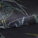 宮古上布 水辺につがいの水鳥の図 質感・風合