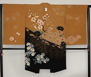 梅菊の図長羽織