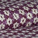 南部しぼり紫根染紬袷 質感・風合