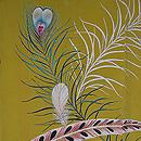 孔雀の羽根の図羽織 質感・風合