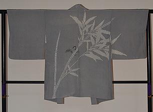 絞りに雀の羽織