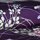 濃紫地秋草小紋 質感・風合