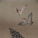 竹林に雀の図羽織 質感・風合