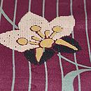 紫地縞と花唐草の単衣 質感・風合