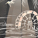 水車にカワセミ夏羽織 質感・風合