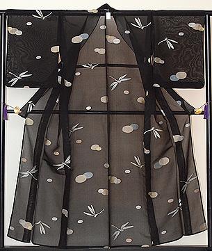 水玉に蜻蛉単衣