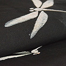 水玉に蜻蛉単衣 質感・風合