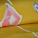 黄色モダン柄小紋 質感・風合