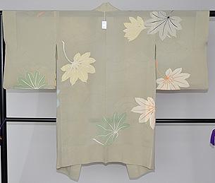 錦紗地八つ手絵羽織