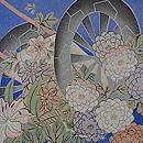 花車と花筏紋紗単衣羽織 質感・風合
