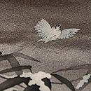 雪持ち笹に雀の図付下 質感・風合