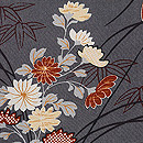 縮緬地菊の図羽織 質感・風合