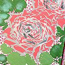 あられに薔薇文様羽織 質感・風合