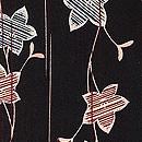 黒地蔓桔梗の図羽織 質感・風合