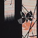 黒地薮小路の図羽織 質感・風合
