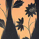 たて涌に小花文様羽織 質感・風合