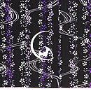 枝垂れ桜に月と蝙蝠小紋 上前