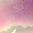 雲取り暈しに桜散らし絵羽織 質感・風合