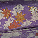 紫地ぼかしに四季の花の図訪問着 質感・風合