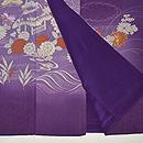 紫地ぼかしに四季の花の図訪問着 上前