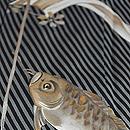 斜め棒縞に鯉のぼりの図付下 質感・風合