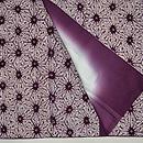 木綿地麻の葉紫紺染小紋 上前