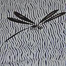粟、芍薬、すすき、トンボの錦紗絞り単衣小紋 質感・風合