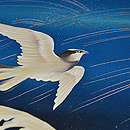 立波に千鳥の図単衣羽織 質感・風合