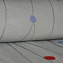流線に水玉文絽小紋 質感・風合