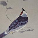山葡萄に小鳥の図付下 質感・風合