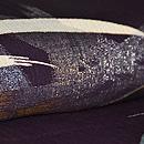 蛇籠に葦の図単衣小紋 質感・風合