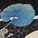 小菊に蕗の葉文様紗羽織 質感・風合