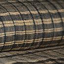 横縞と板締め絞りの紬 質感・風合