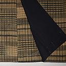 横縞と板締め絞りの紬 上前